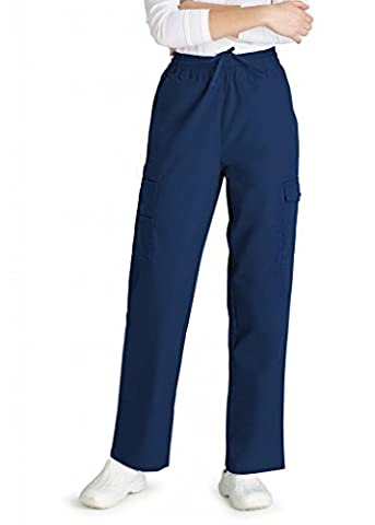 Adar Universal Natural-Rise Multipocket Cargo Tapered Leg Pants - 506 - Navy - 3X