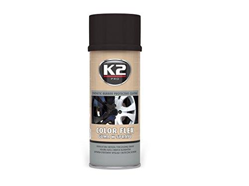 Preisvergleich Produktbild K2 Color Flex 400ml Flüssiggummi Schwarz Glanz Sprühfolie Sprühlack Spray Farbe