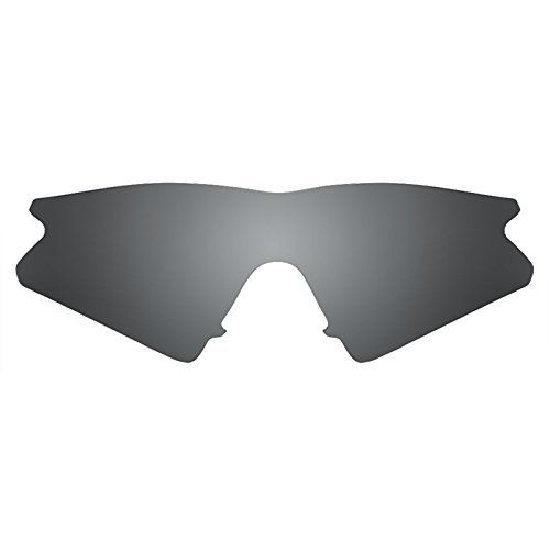 Verres de rechange pour Oakley M Frame Sweep — Plusieurs options Noir Chrome MirrorShield® - Polarisés