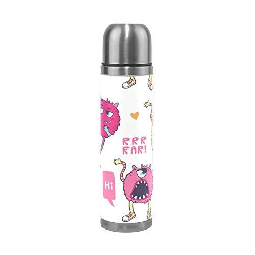 Montoj Monster Booo Edelstahl-Vakuum-isolierte Wasserflasche hält Getränke kalt/heiß für 12 Stunden (Getränke Pantry Prime)