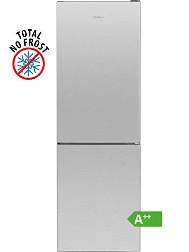 Bomann KG 7303 Kühl-/Gefrierkombination / EEK A++ / Kühlen 161 L / Gefrieren 70 L / Höhe 170 cm / Breite 54 cm / 197 kWh/Jahr / Total No Frost / multiAirflow-System / Edelstahl-Optik
