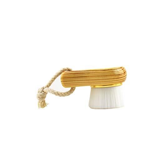 Gesichtsreinigungsbürste Hand Gesichts-bürste Faserborsten Holzgriff Für Gesicht Waschen Tiefe Pore Exfoliation Wash Make-up-pinsel Massieren Goldring