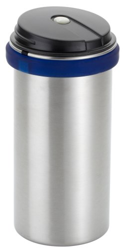 Emsa 505217 CITY Aufbewahrungsdose für Kaffee- und Teepads, transluzent blau