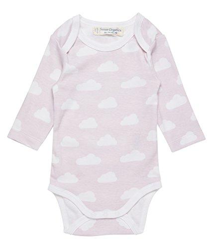 Sense Organics Baby - Mädchen Formender Body Yvon Langarmbody 8400710GOTS, Gr. 86 (Herstellergröße: 12M), Mehrfarbig (AOP Clouds Rose 681000)