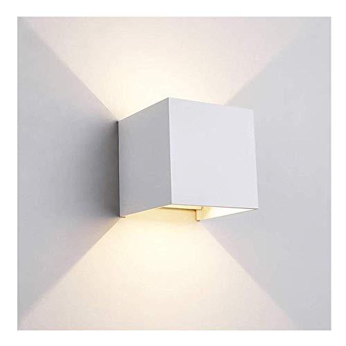 7W LED Wandleuchte Aluminium Wandlampe Leuchtmittel fest verbaut für Schlafzimmer, Wohnzimmer,...
