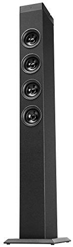 Bennett & Ross Maximus 2.1 Tower Speaker mit USB/SD-Slots und Bluetooth (Multimedia-Lautsprecher, Leistung: 2 x 9W + 15W RMS-Leistung/100W MAX, 2-Band Equalizer, Fernbedienung) schwarz