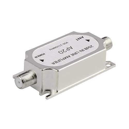 Amplificador línea satélite 20dB 950-2150MHZ Amplificador