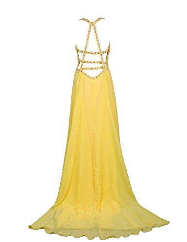 Dresstells, Robe de soirée Robe de cérémonie Robe de gala emperlée bustier en cœur traîne watteau Bleu Saphir