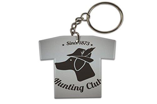 Schlüsselanhänger Hunde Rasse Jäger Club Trikot bedruckt (Trikot-jäger)