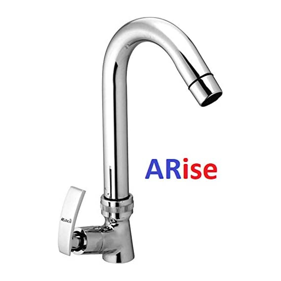 ARISE JAGGER Chrome Finish Soft Swan Neck Pillar Cock Tap for Bathroom Wash Basin and Kitchen Sink