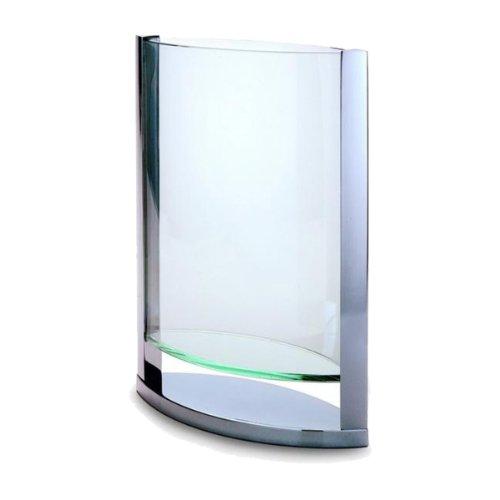 Jarrón florero de cristal de diferentes tamaños Philippi Decade, acero inoxidable, large
