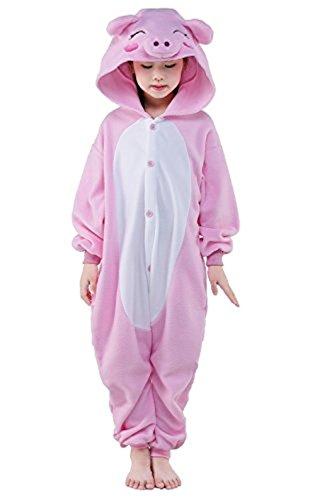 Kenmont Bambini Unicorno Pigiama Animale Kigurumi pigiamas Cosplay Costumi Tuta Carnevale Halloween Natale Camicie da Notte Pink Pig