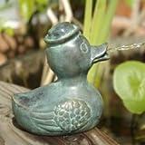 Wasserspeier Ente Daniel, Teichfigur aus Bronze