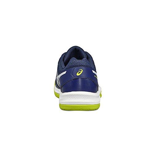 Asics Herren Gel-Dedicate 5 Gymnastikschuhe Blau (Indigo Blue/white/safety Yellow)
