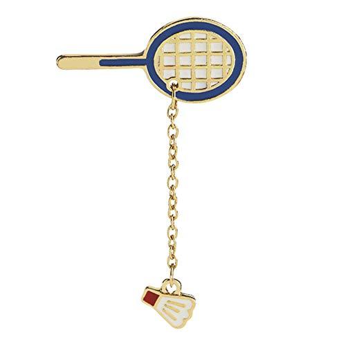 Ellaao Mode Cartoon Pingpong Badminton Brosche Metall Emaille Abzeichen Anzug Jeans Rucksack Schmuck Dekoration Geschenk
