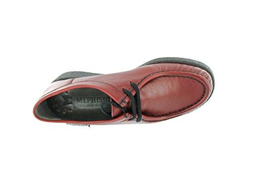 Mephisto-Chaussure Lacet-CHRISTY Noir verni 1000-Femme Rouge