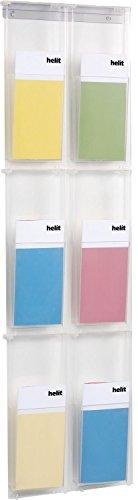 Helit H6810802 - Wanddisplay 'the placativ' 6 x 1/3 DIN A4, glasklar