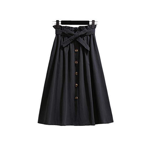 Frauen Röcke Mode Hohe Taille Rock Frauen Frühling Sommer Midiröcke Frauen Elastische Taille Eine Linie Damen Röcke Mit Gürtel -