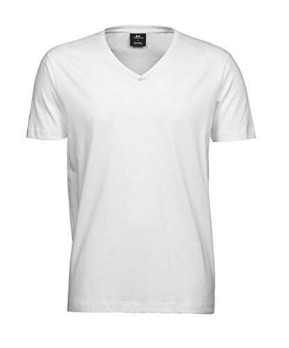 "Herren V-Neck T-Shirt ""Fashion Sof-Tee"" White"