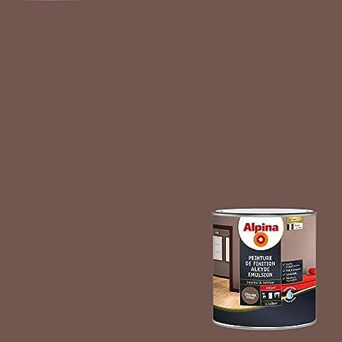 Peinture Exterieur Chocolat - Alpina 886658 Peinture de finition Alkyde émulsion