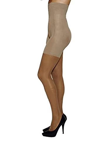 HIGH WAIST SHAPER TIGHTS |CONTROL BODY & LEG RELAXING | SHAPING PANTYHOSE | 20 DEN | BLACK, NATURAL | ITALIAN HOSIERY | (L,
