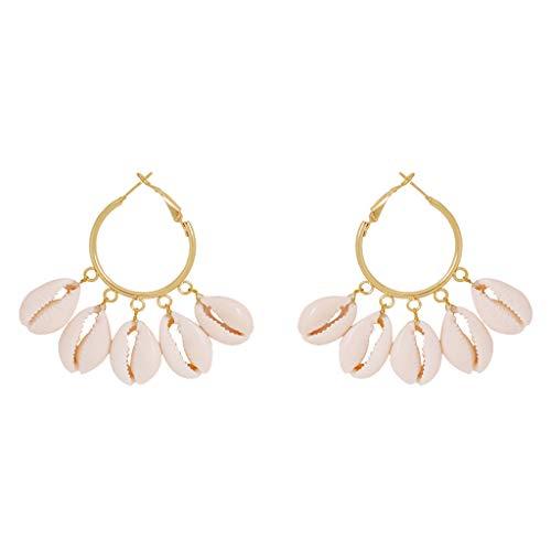 UINGKID Damen Ohrringe Mode Ohrstecker Arbeiten Sie eleganten böhmischen Metalloberteil-geometrischen runden Ohrring-Schmuck um (Spinning Ring Gear)