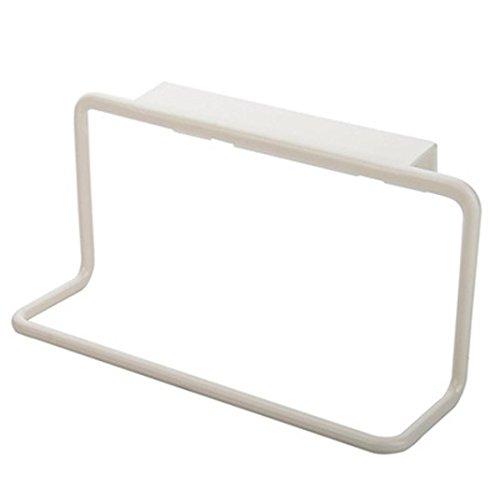 hunpta Handtuch Rack zum Aufhängen Holder Organizer Badezimmer Küche Schrank Aufhänger weiß