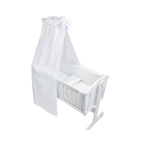 TupTam Unisex Baby Wiegen-Set 6-tlg., Farbe: Weiß, Anzahl der Teile:: 6 tlg. Set
