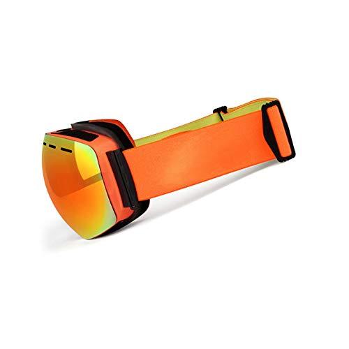Epinki Erwachsene TPU Zweilagige Anti-Fog PC Objektiv Skibrille Schneebrille Snowboardbrille Anti-Beschlag Winddicht Wintersport Brille für Skifahren Schneemobil Skaten, Orange