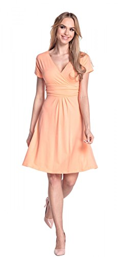 Glamour Empire Flattering Dress 108 - Patineuse - Femme Abricot