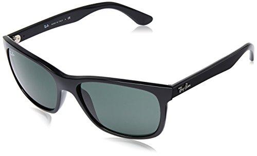 Ray-Ban RAYBAN Unisex Sonnenbrille 0rb4181 601 58, Gestell: schwarz Glas: grün, Large (Herstellergröße: 57)