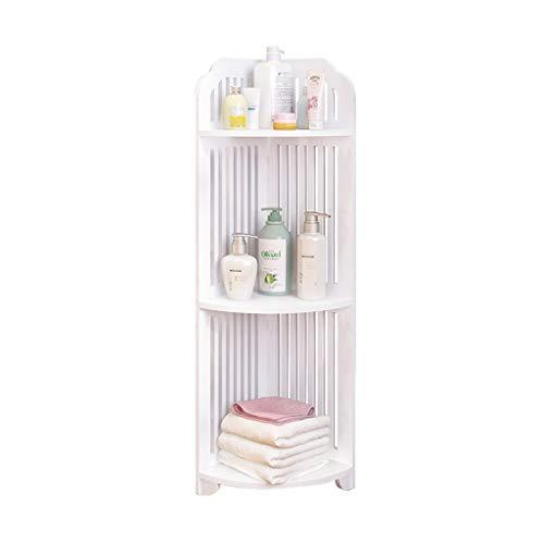 LEI ZE JUN UK- Badezimmer-Regal-stehender dreieckiger Toiletten-Schrank-Eitelkeits-Badezimmer-Speicher-Rack-Ecken-Speicher-Regal Schweberegale (größe : 3 Tier) - Tier-regal Eitelkeit