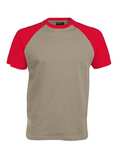 Baseball T-Shirt Light Grey/Red