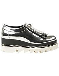 HSM Schuhmarketing - Zapatillas de Material Sintético para mujer plateado plata, color plateado, talla 39
