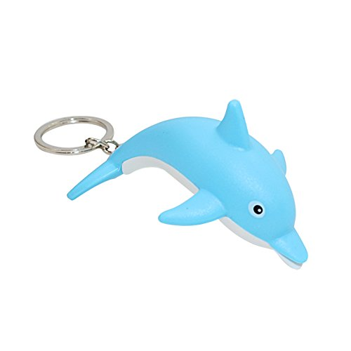 MAJGLGE Magggle Schlüsselanhänger mit Delfin-Motiv, mit LED-Beleuchtung, Blau