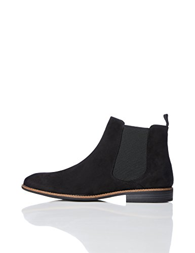 FIND Men's Classic Casual Chelsea Boots, Black, 8 UK