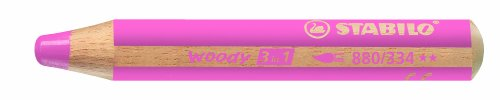 STABILO woody 3 in 1 Einzelstift pink - Multitalent-Stift (3 Stift Einem In)