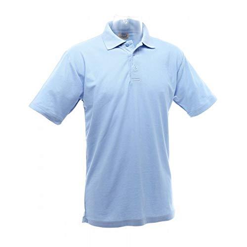 UCC 50/50 Pique Polo Shirt für Männer (2XL) (Himmelblau) -