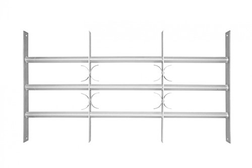 Fenstergitter Verstellbar Ausziehbar Einbruchschutz Verzinkt Fenster 450mm x 1000mm- 1500mm