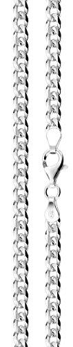 Nenalina Herren-Halskette aus 925er Sterling Silber, Panzerkette für -