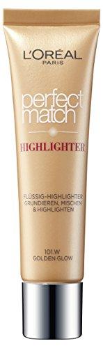 L'Oreal Paris Highlighter Make-UpFoundation Perfect Match 101.W Golden Glow, 1 Stück