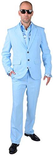 M218287-13-S hell-blau Herren Anzug Smoking Sakko Hose und Krawatte Gr.S