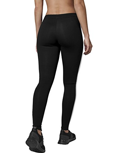 Urban Classics Damen Ladies Retro Leggings Mehrfarbig (blk/wht 50)