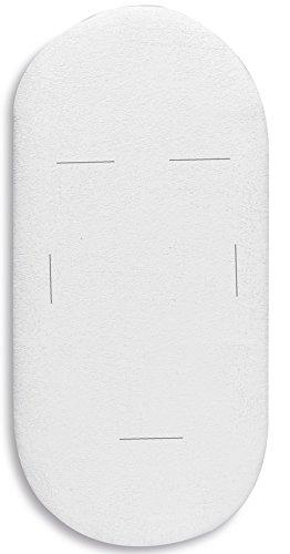 Pirulos 40000001 - Bajera, algodón, 40 x 80 cm, color blanco