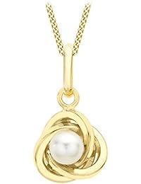 Carissima Gold Collar de mujer con oro amarillo de 9 quilates (375/1000), perla, 46 cm