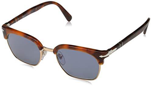 Persol 107256 Sonnenbrille, Rechteckig, 52, Tortoise Brown