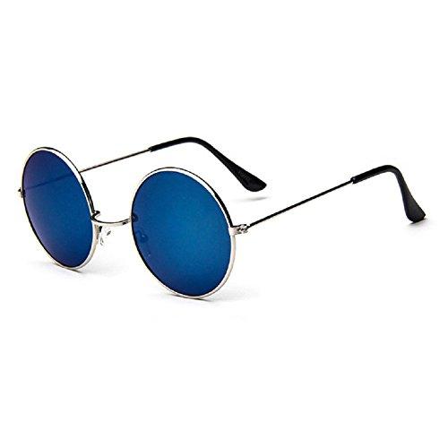 O-C Herren Sonnenbrille Silver frame,blue lens