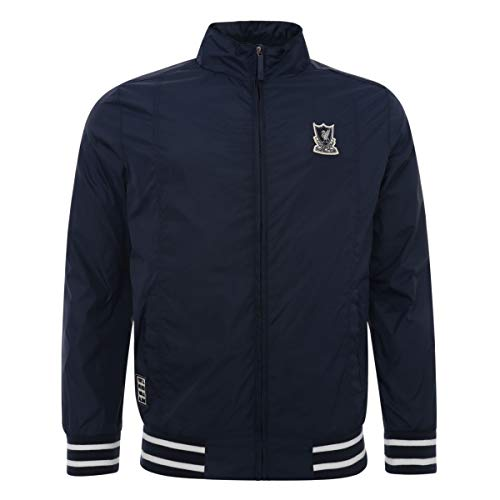 FC Liverpool Funnel Neck Harrington Jacket (M, Navy)