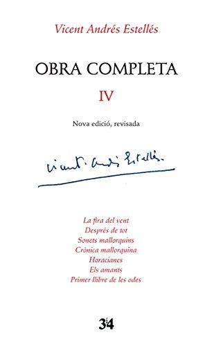 Portada del libro Obra completa IV Vicent Andrés Estellés