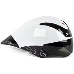 Spiuk Aizea - Casco de ciclismo, color blanco / negro, talla 53 - 61